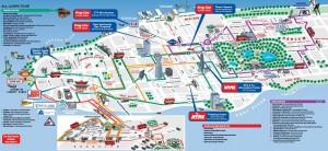 New York City Hop-On Hop-Off Tour Map