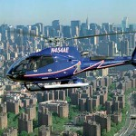 Helikopter boven New York