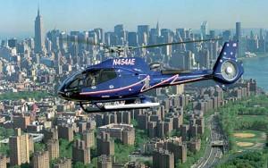 Helikopter boven New York