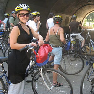 Fietstocht langs de Hudson River Park Greenway en door Central Park
